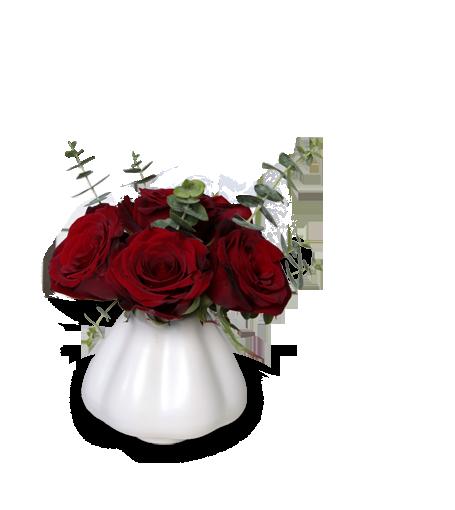 Pote de rosas