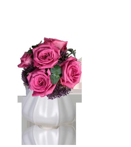 Pote de Rosas Cor-De-Rosa