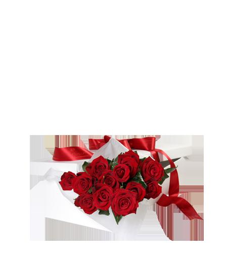 Caixa Branca com Rosas Vermelhas